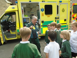 a visit from the ambulance